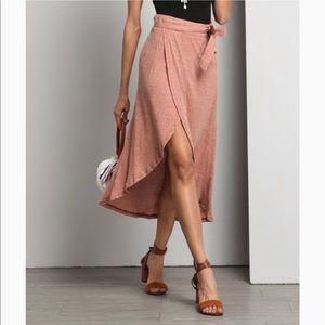 NWT Reborn wrap midi skirt